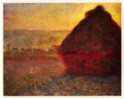 Foto's and paintings: all haystacks of Monet; haycocks of Rumania